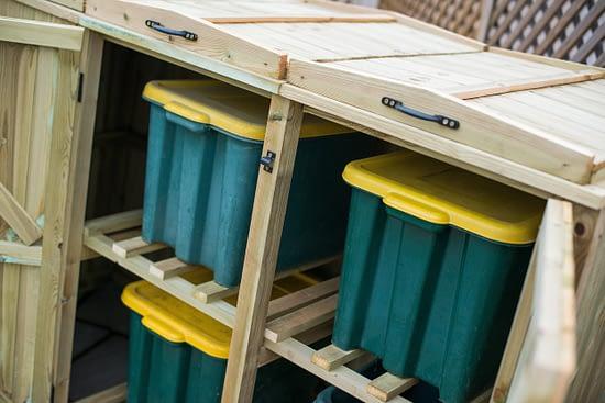 Mayfair 1 Wheelie Bin 4 Recycling Boxes Store