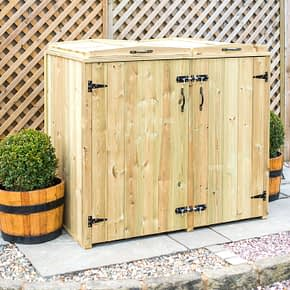 Mayfair 1 Wheelie bin 2 Recycling Boxes Store