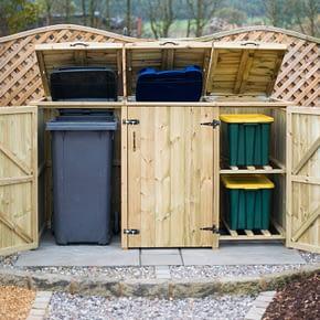 Mayfair 2 Wheelie Bins 2 Recycling Boxes Store