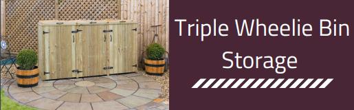 Triple Wheelie Bin Storage